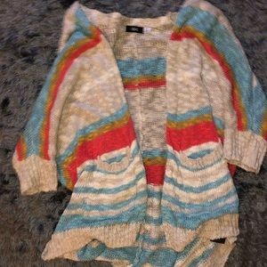Multi-color open-front sweater from UO!